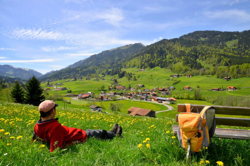 Wandern beim Urlaub in Niederbayern
