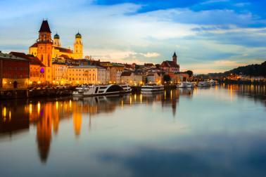 Die romantische Barockstadt Passau ist nur wenige Kilometer entfernt