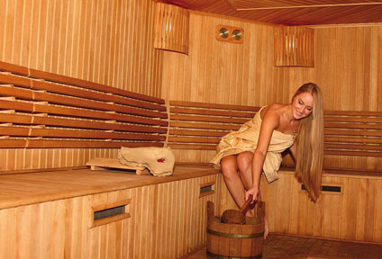 Finnische Sauna des Wellnesshotels Binder im Passauer Land