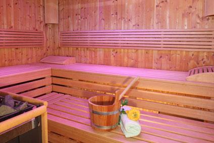Das Sanarium ist eine sanfte Sauna, die Gäste des Wellnesshotels Binder bei Passau nutzen können.