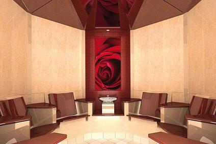 Das Wellnesshotel Binder verfügt über einen luxuriösen Wellness-Bereich mit einem Rosendampfbad.